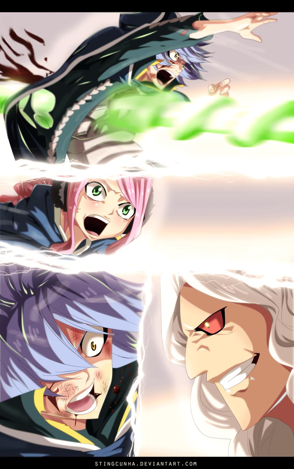 "Fairy Tail chapter 368 - Jellal's ""death"" - colour by StingCunha (http://stingcunha.deviantart.com)"
