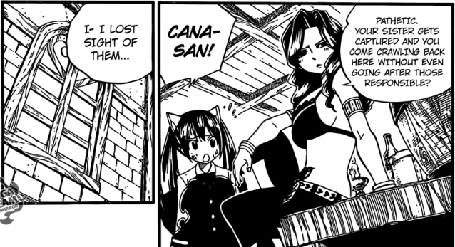 Fairy Tail chapter 368 - Cana's suspicion of Elfman