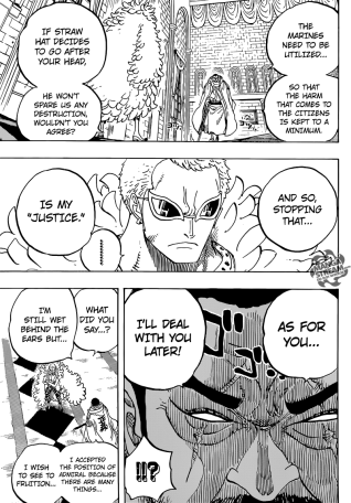 One Piece chapter 735 - Fujitora sets the record straight