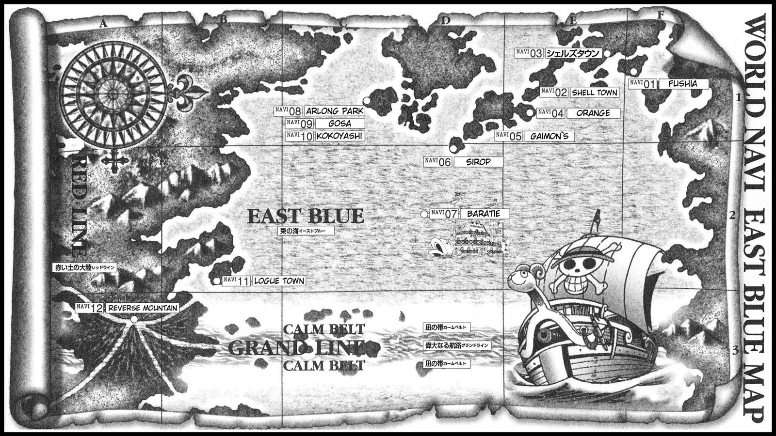 One piece east blue map 12dimension 1600 900 pixels one piece east blue map gumiabroncs Image collections