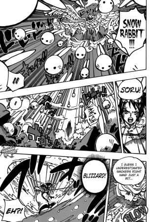 One Piece chapter 687 - Monet's Snow Rabbit