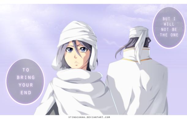 Bleach chapter 569 - Kuchiki Rukia and Kuchiki Byakuya - colour by StingCunha (http://stingcunha.deviantart.com)