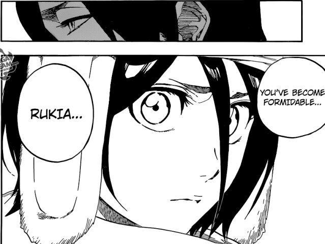 Bleach chapter 569 - Byakuya acknowledging Rukia's strength