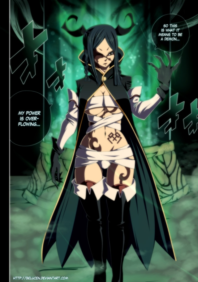 Fairy Tail chapter 370 - Demon Minerva - colour by belucEn (http://belucen.deviantart.com)