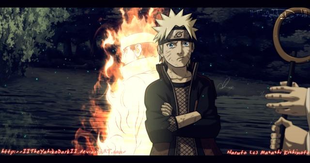 Naruto chapter 670 - Naruto and Ashura - by IITheYahikoDarkII (http://iitheyahikodarkii.deviantart.com)