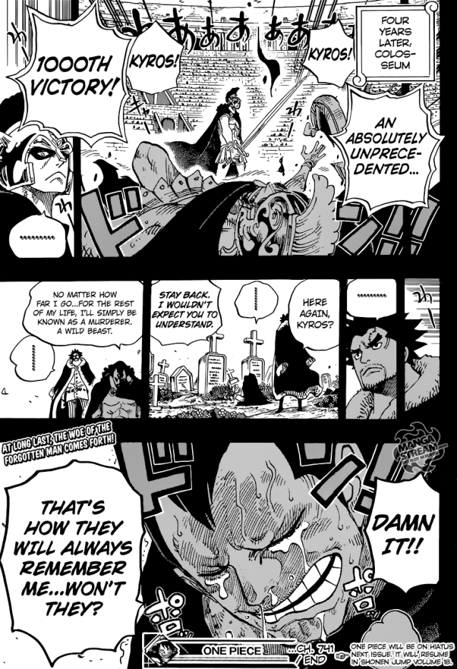 One Piece chapter 741 - Kyros's grief