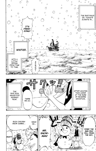 One Piece chapter 106 - Luffy builds a snowman 1