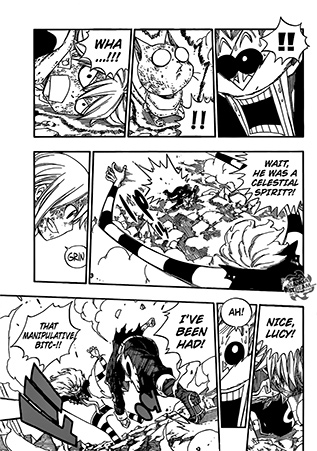 Fairy Tail chapter 379 - Lucy exploits Franmalth's weakness 2