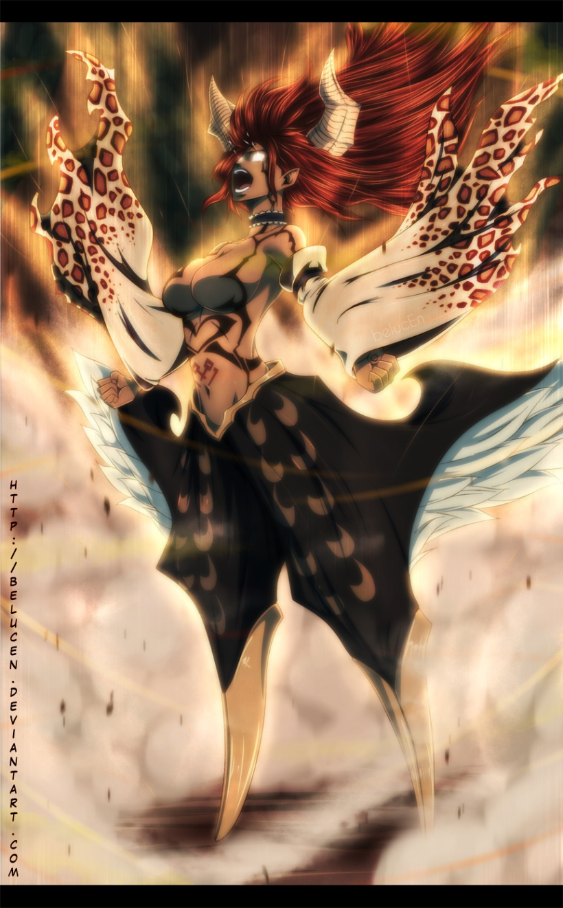 Fairy Tail chapter 380 - Sayla limit release - colour by belucEn (http://belucen.deviantart.com)