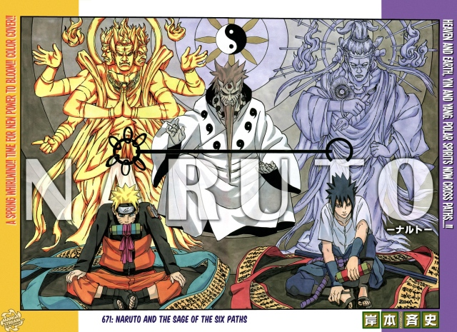 Naruto chapter 671 - color spread