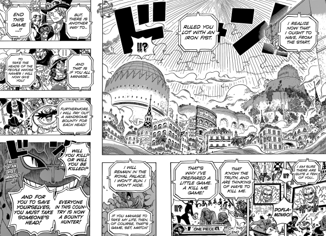 One Piece chapter 745 - Doflamingo's Game