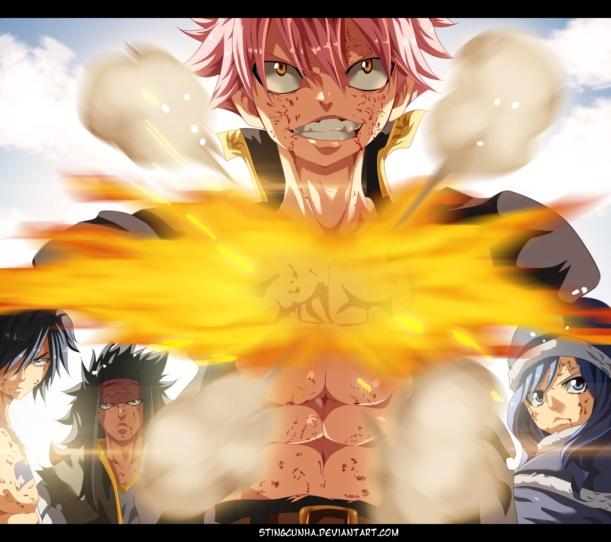 Fairy Tail chapter 386 - Natsu come back - colour by StingCunha (http://stingcunha.deviantart.com)