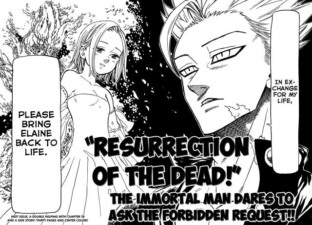 Nanatsu no Taizai chapter 77 - Ban's request to the Goddess Clan