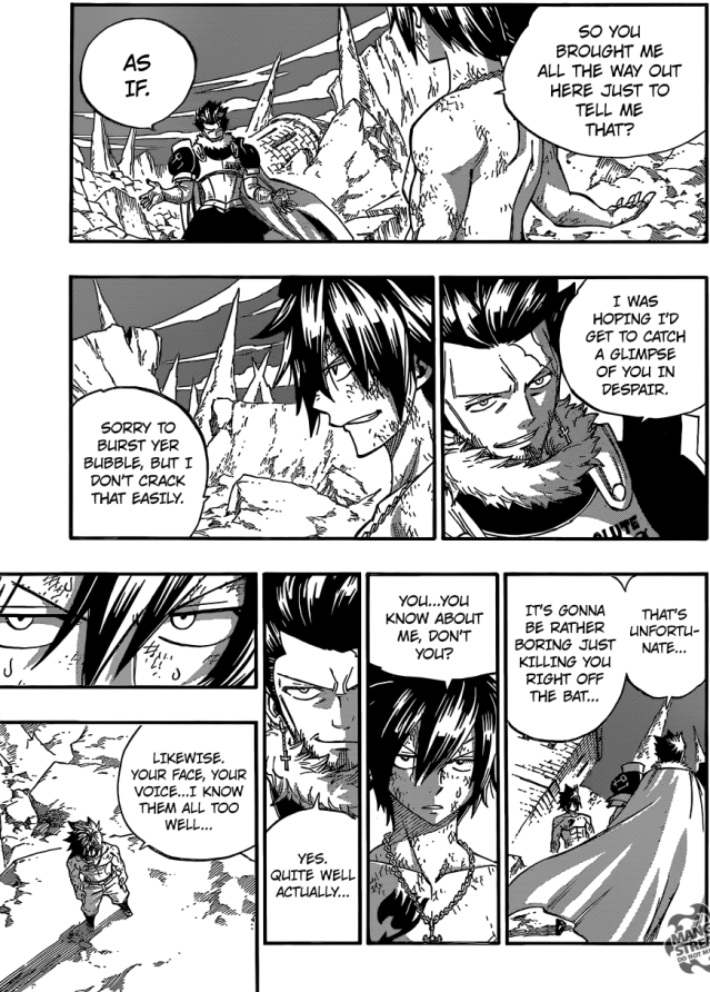 Fairy Tail chapter 389 - Gray and Silver