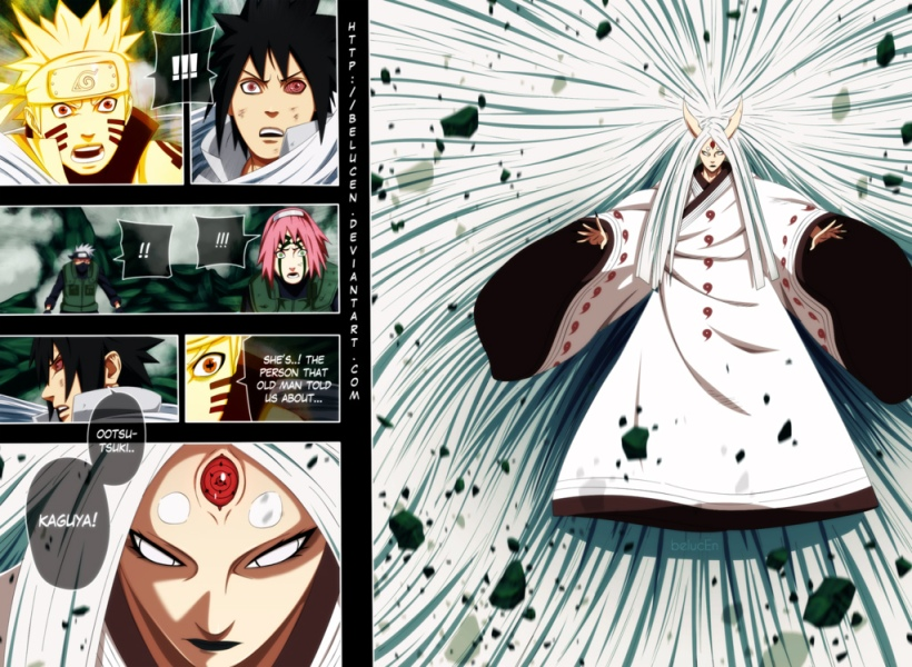 Naruto chapter 679 - Kaguya Ootsutsuki - colour by belucEn (http://belucen.deviantart.com)