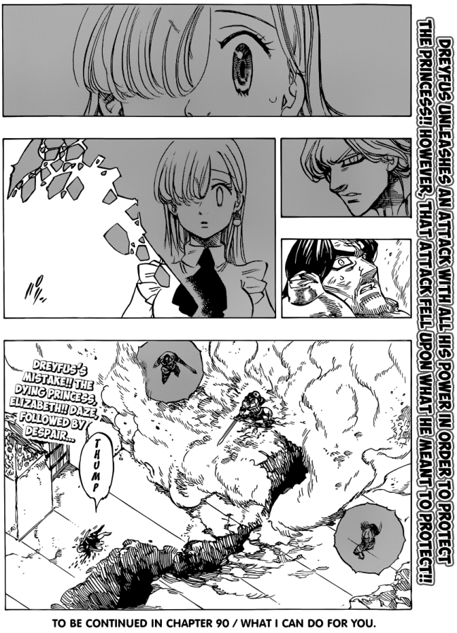 Nanatsu no Taizai chapter 89 - Elizabeth falls