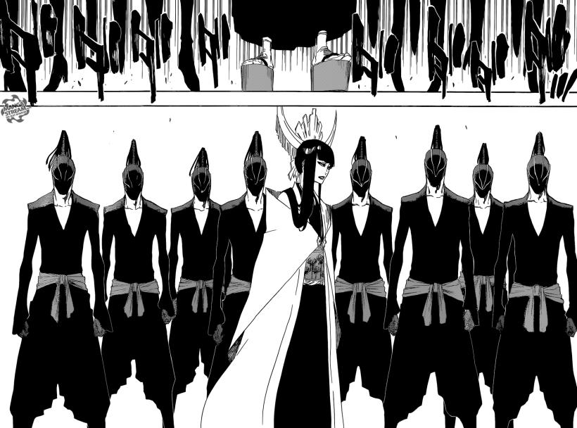 Bleach chapter 597 - Senjumaru arrives