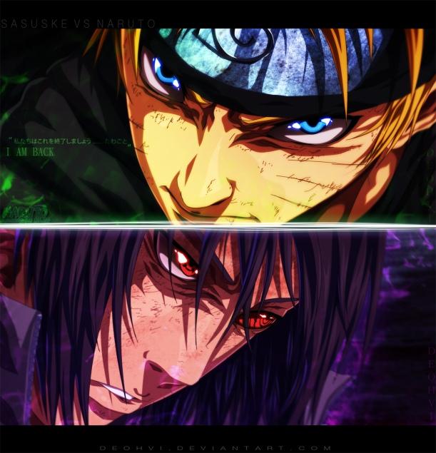 Naruto chapter 692 - Sasuke vs Naruto - colour by DEOHVI (http://deohvi.deviantart.com)