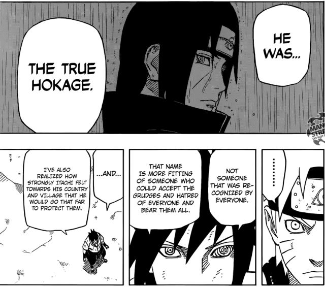 Naruto chapter 694 - Sasuke's understanding of Itachi's actions