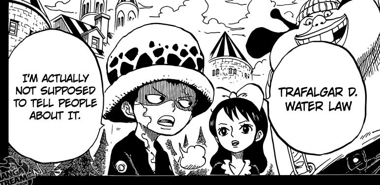 One Piece chapter 763 - Trafalgar D. Water Law