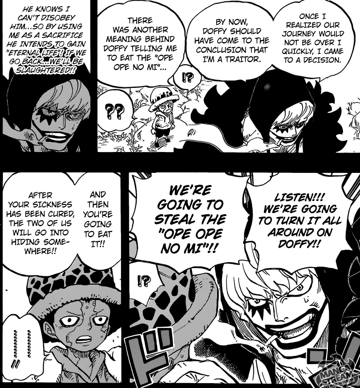 One Piece chapter 765 - Rosinante's plan