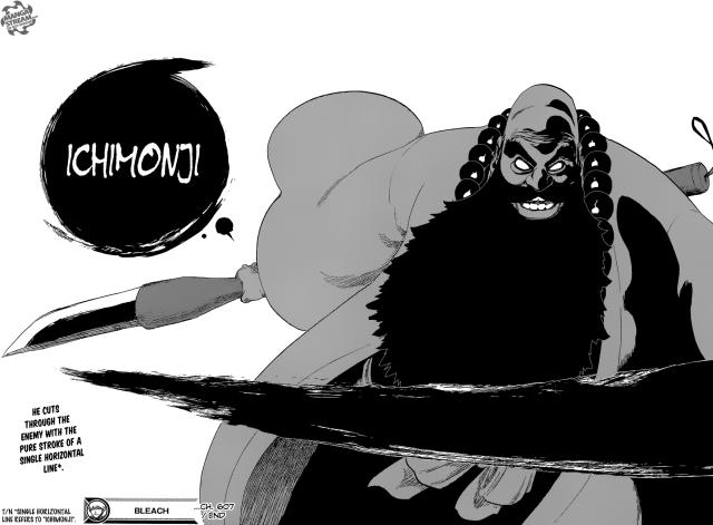 Bleach chapter 607 - Ichimonji