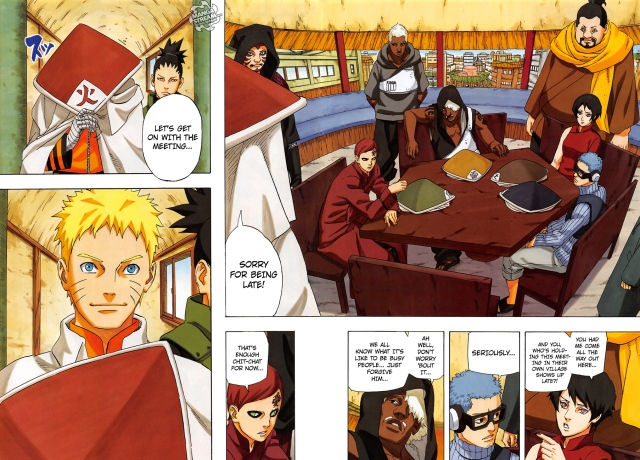 Naruto chapter 700 - The Five Kage Summit