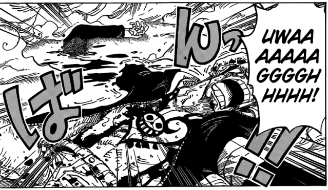 One Piece chapter 769 - Law's arm severed