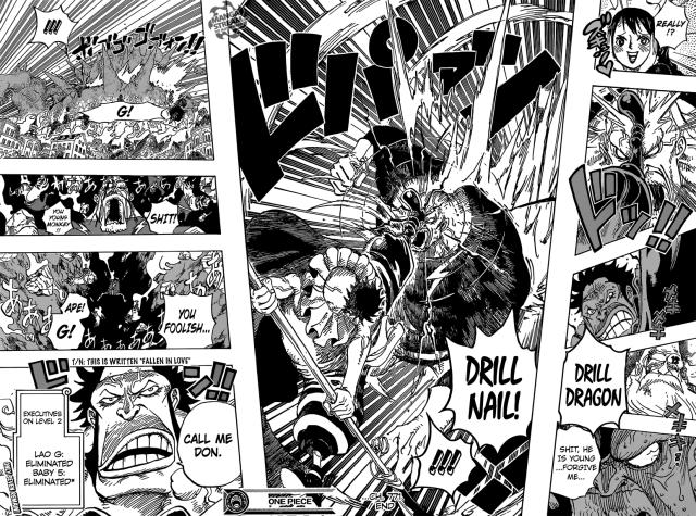 One Piece chapter 771 - Sai defeats Lao G