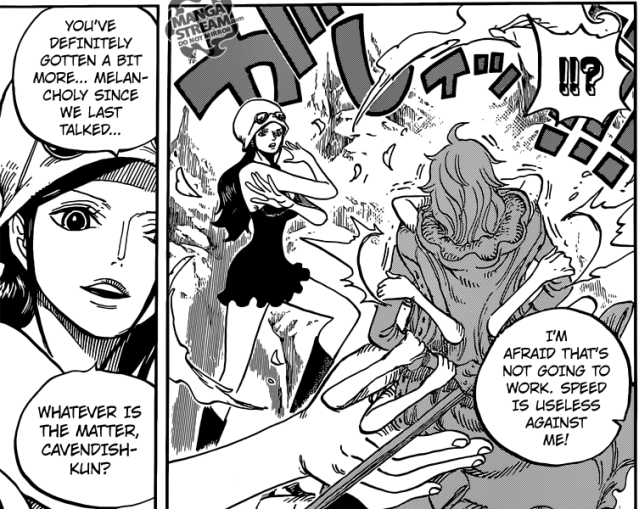 One Piece chapter 773 - Robin's immobilizes Hakuba