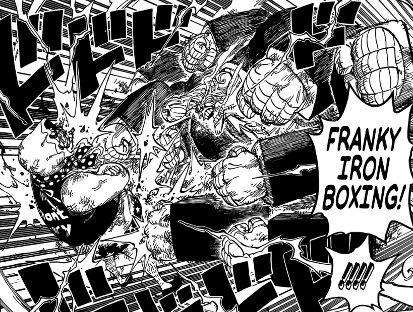 One Piece chapter 775 - Franky VS Senor Pink