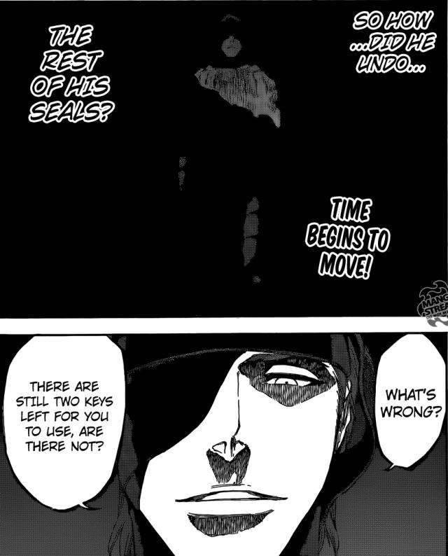 Bleach chapter 617 - Aizen free