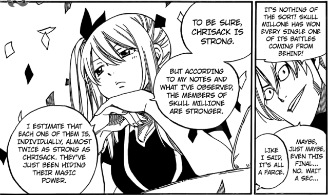 Fairy Tail chapter 418 - Lucy's analytical ability