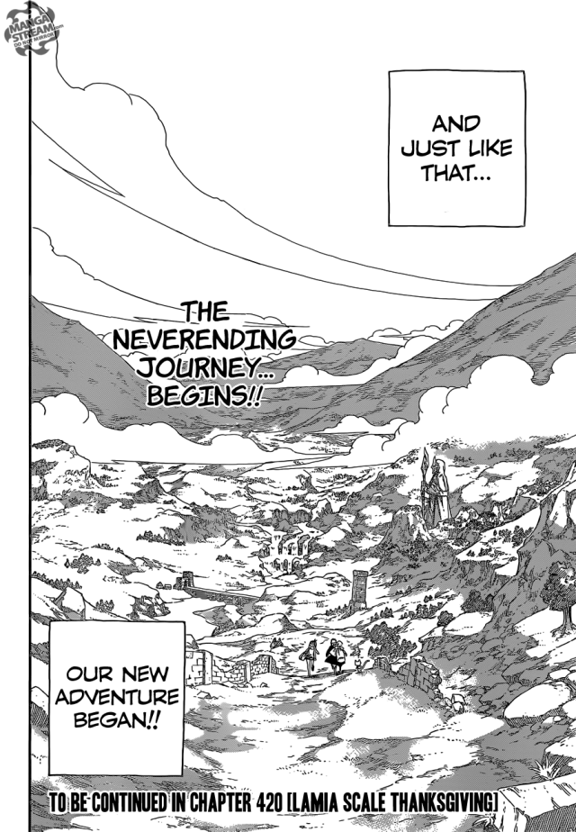 Fairy Tail chapter 419 - A new adventure begins