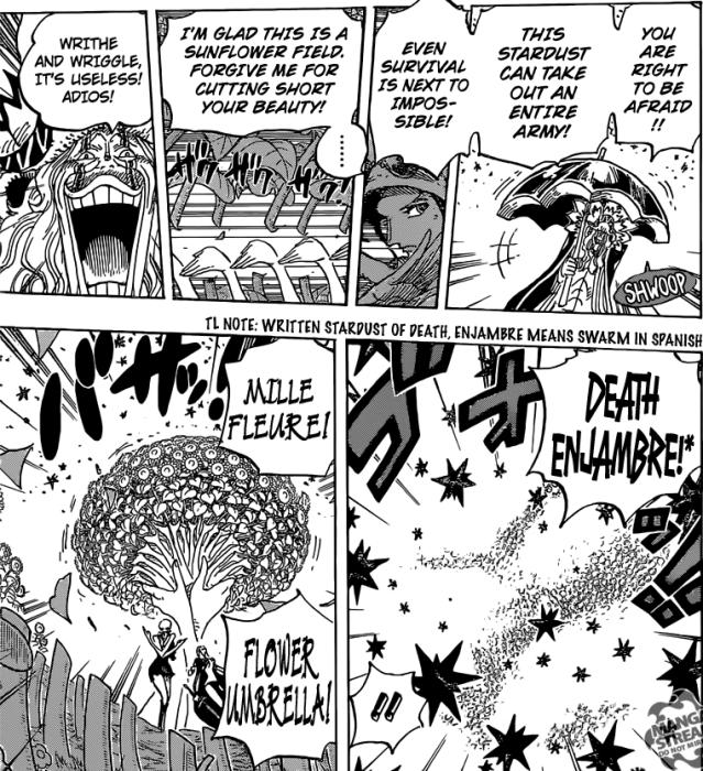 One Piece chapter 776 - Mil Fleur Flower Umbrella