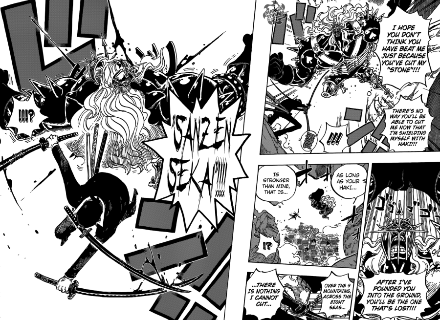 One Piece chapter 778 - Zoro defeats Pica