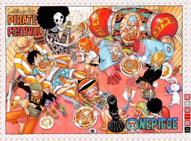 One Piece chapter 779 - colour spread - Tokyo Pirate Festival