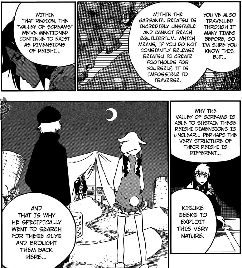 Bleach chapter 625 - Kisuke searches for Riruka and Yukio