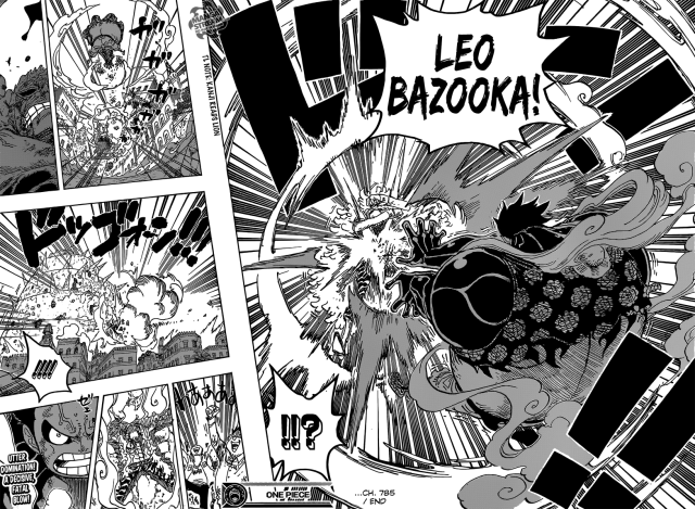 One Piece chapter 785 - Luffy's Lion Bazooka