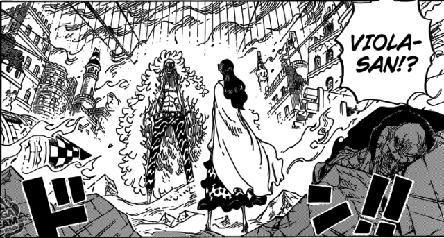 One Piece chapter 788 - Viola and Doflamingo