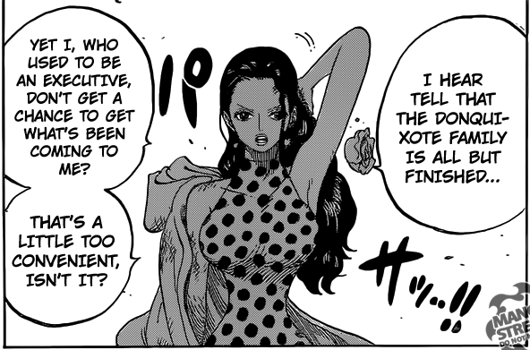 One Piece chapter 788 - Viola challenges Doflamingo