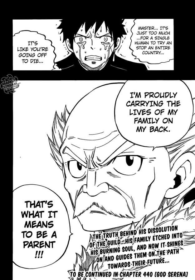 Fairy Tail chapter 439 - Makarov's decision