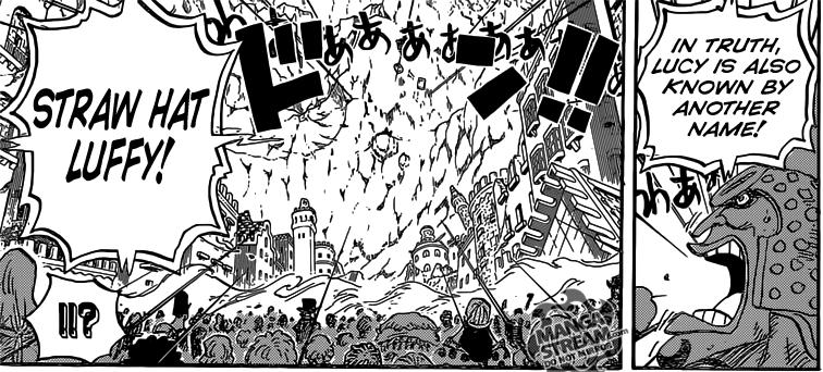 One Piece chapter 789 - Gatz reveals the true identity of Lucy