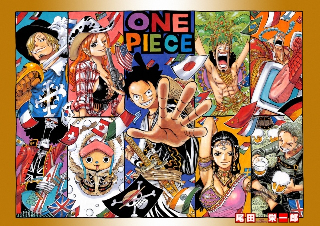 One Piece chapter 790 - Straw Hat color spread