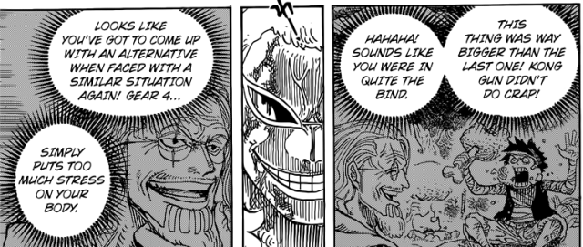 One Piece chapter 790 - Rayleigh's advice on Gear Fourth