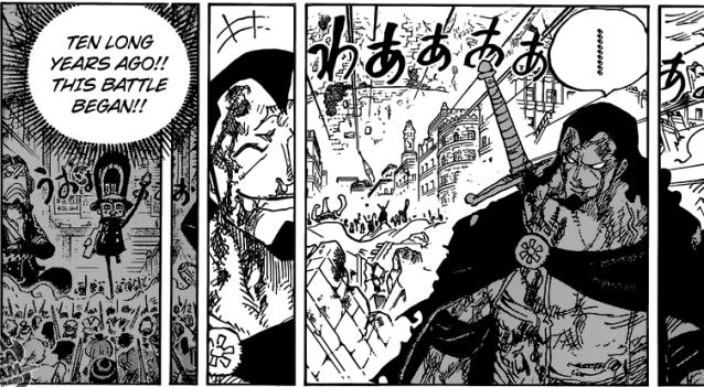 One Piece chapter 791 - Kyros, the hero of Dressosa
