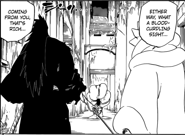Bleach chapter 636 - Zaraki and Mayuri VS Pernida