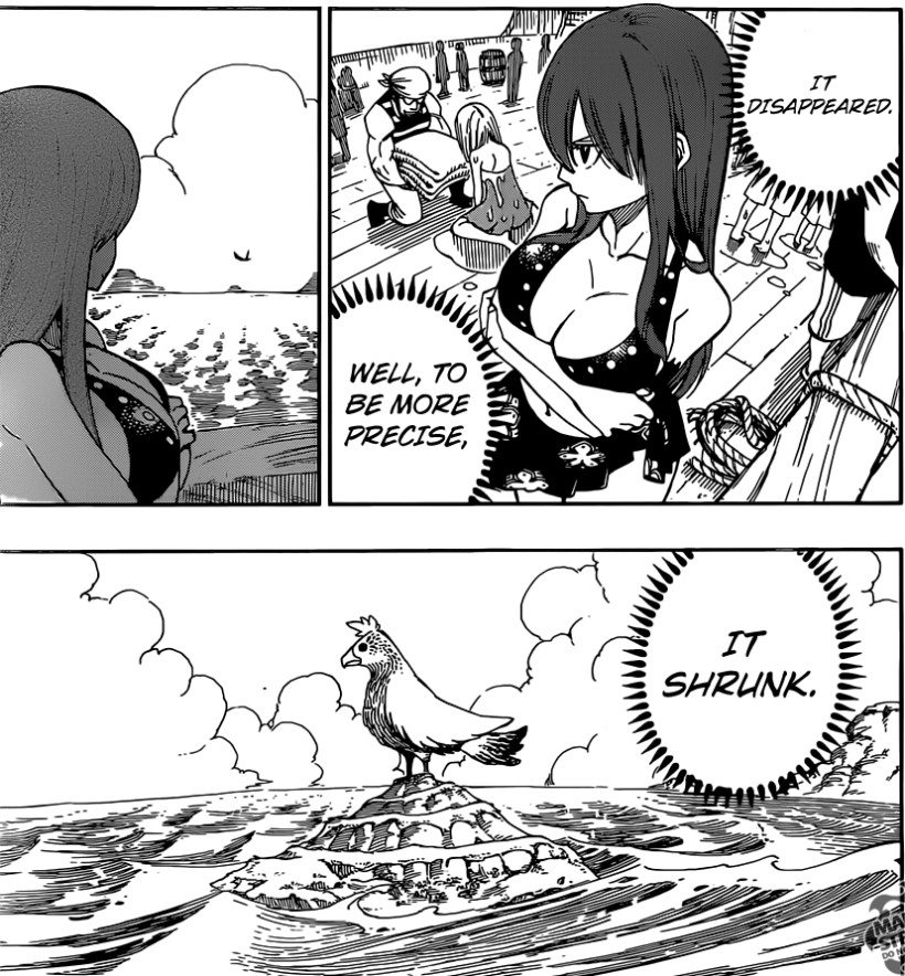 Fairy Tail chapter 444 - Erza deduces Brandish's magic
