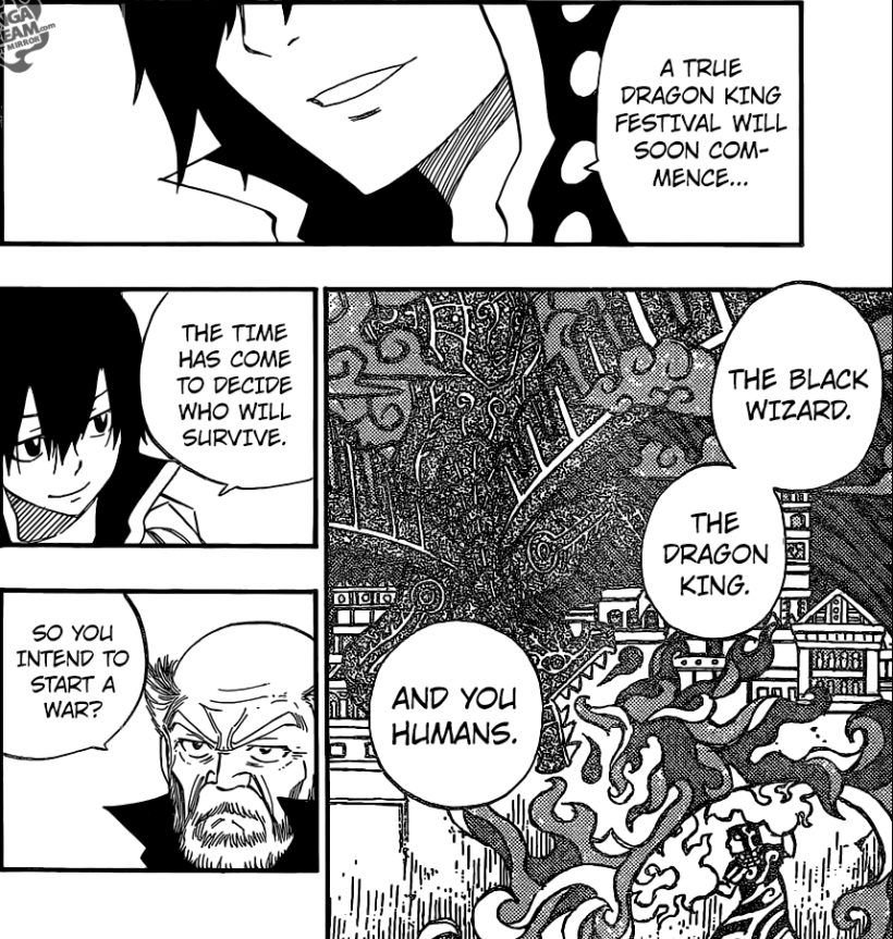 Fairy Tail chapter 445 - The Dragon King Festival