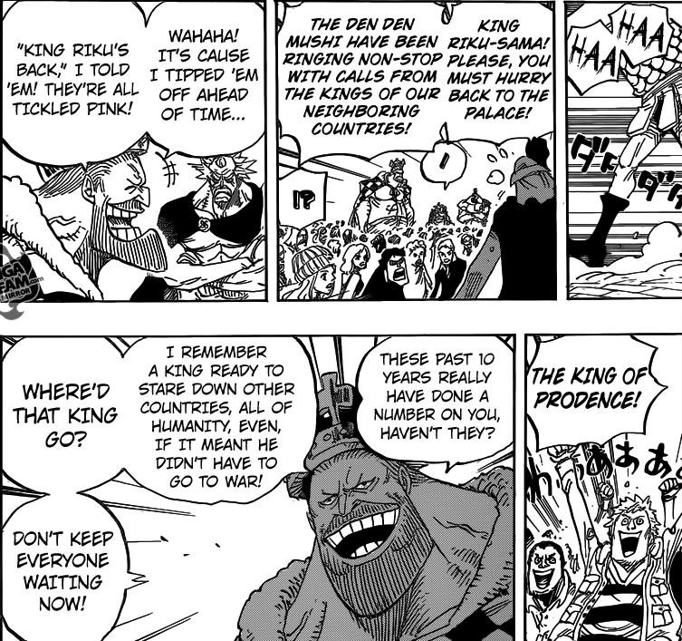 One Piece chapter 792 - King Elizabello